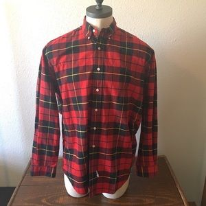 Ralph Lauren Red Blue Plaid Shirt
